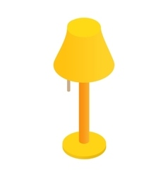 Floor lamp isometric 3d icon vector