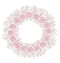 Hand drawn rose frame vector