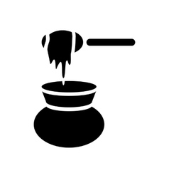 Honey dipper and jug icon simple style vector