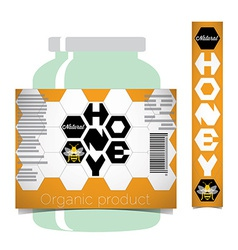 Honey label vector image