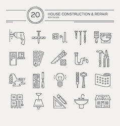 House remodel icons vector