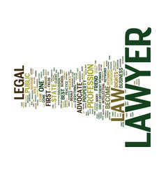 Lawyer text background word cloud concept vector