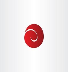 letter e red easter egg logo icon vector image