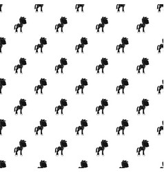 Little pony pattern vector
