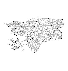 Map of guinea-bissau from polygonal black lines vector