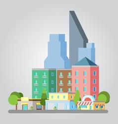 Modern flat design cityscape vector image vector image