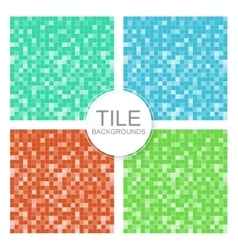 Mosaic tile backgrounds vector