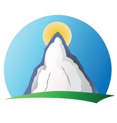 Mountain logo 1 vector