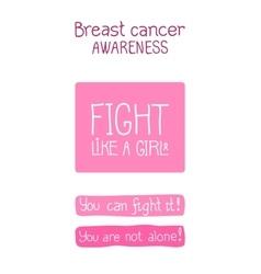 Pink ribbon international symbol of breast cancer vector