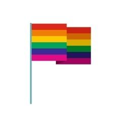Rainbow flag flat icon vector image vector image