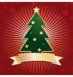 Red and gold christmas background vector