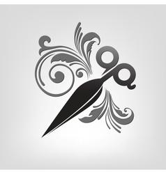 scissors stylization vector image vector image