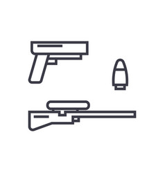 shooter game gun rifle bullet concept vector image