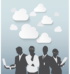 Silhouette business people vector image vector image