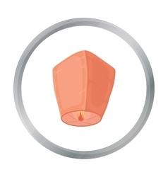 Sky lantern icon in cartoon style isolated on vector