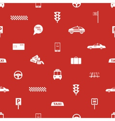 Taxi icons red seamless pattern eps10 vector