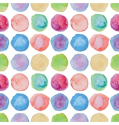 Watercolour polka dot seamless pattern vector