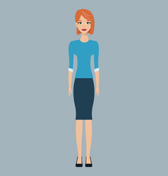 Woman character member community vector