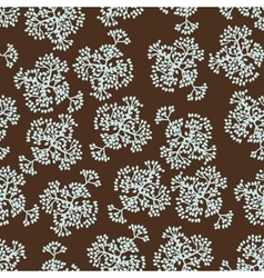 Seamless pattern with brunches background of vector image