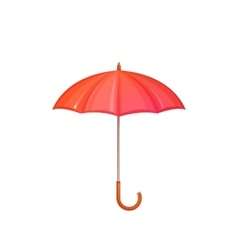 Red umbrella isolated on white background vector image