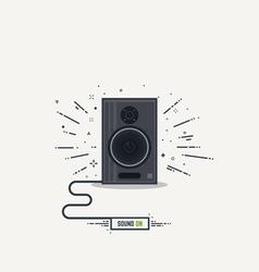 Speaker line icon vector