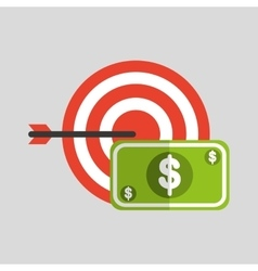 business strategy technology dollar money vector image
