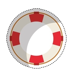 Life guard float isolated icon vector