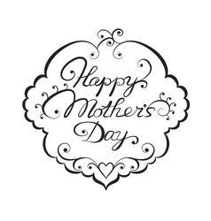Happy mother day lettering vector