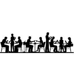 restaurant silhouette vector image