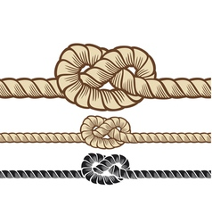 Rope knot vector