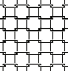 Seamless pattern of chain fence vector
