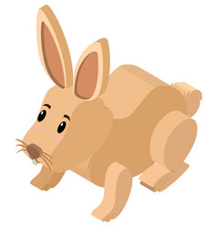 3d design for cute bunny vector image