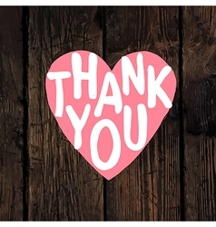 thank you wooden vector image