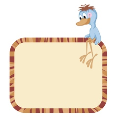 Label frame - funny birds vector