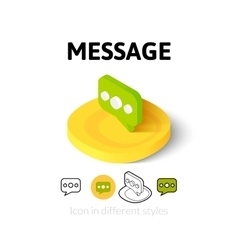Message icon in different style vector