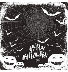 Halloween background design black and white colors vector