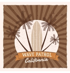 Vintage surfing graphics and poster for web design vector