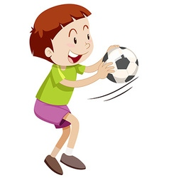 Little boy playing with ball vector image