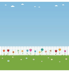White picket fence vector