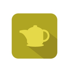 Teapot on white background vector
