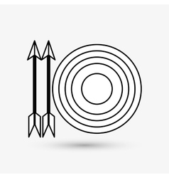 Target design arrow icon colorfull vector