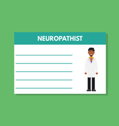 about doctor neuropatist template medical vector image vector image