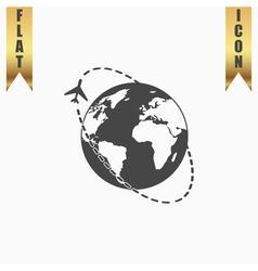 Air travel destination icon vector image vector image