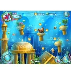 Atlantis ruins playing field vector