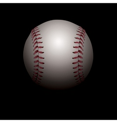 Baseball on black background vector