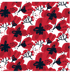 Blossom seamless pattern for surface design vector