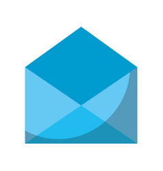 blue open envelope message mail concept vector image
