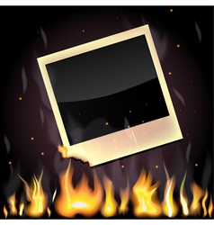 Burning photo vector
