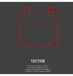 Calendar flat modern web button and space for your vector