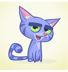 Cartoon of blue cat vector